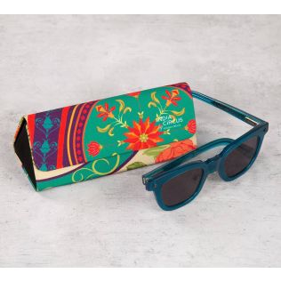 India Circus Floral Embroidery Spectacle Case