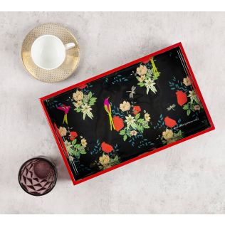 India Circus Floral Fascination Rectangle Serving Tray