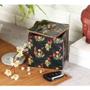 India Circus Floral Fascination Square Storage Box