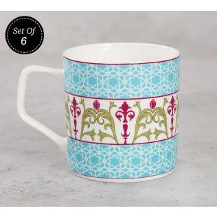 India Circus Floral Illusion Mug (Set of 6)