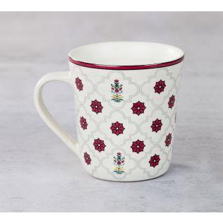 India Circus Floral Lattice Mug