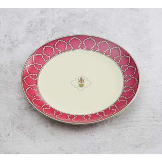India Circus Floral Lattice Quarter Plate