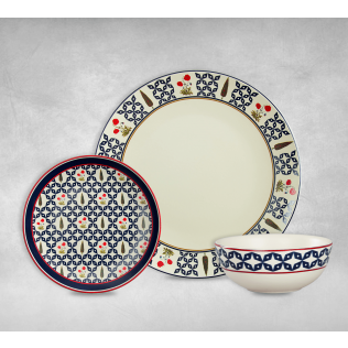 India Circus Flowers and Ferns Dinner Sets of 6