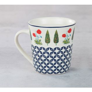 India Circus Flowers and Ferns Mug