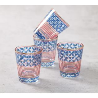 India Circus Flowers and Ferns Shot Glass (Set of 4)