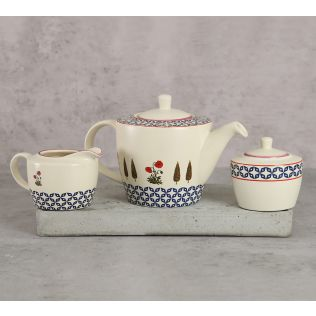 India Circus Flowers and Ferns Tea Set