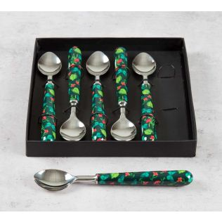 India Circus Fluttering Extravagance Dessert Spoon Set of 6