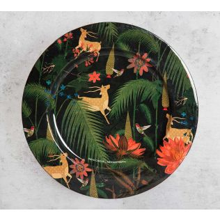 India Circus Forest Fetish 11 inch Decor Plate