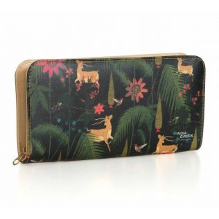 India Circus Forest Fetish Ladies Zipper Wallet