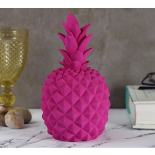 India Circus Fuchsia Pineapple Decor Accent