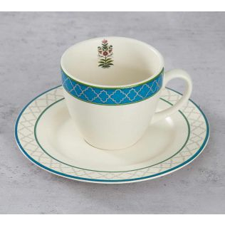 India Circus Garden of Eva Cup and Saucer