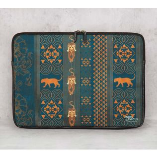 India Circus Geometrical Empress Blue Laptop Sleeve
