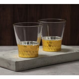 India Circus Gold Honeycomb Juice Glass (Set of 2)