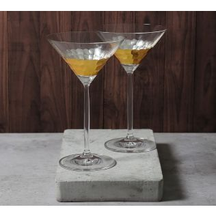 India Circus Gold Honeycomb Martini Glass (Set of 2)
