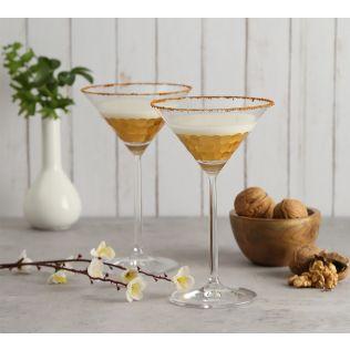 India Circus Gold Honeycomb Martini Glass (Set of 2)