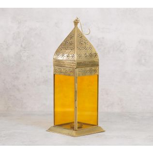 India Circus Gold Moroccan Iron Candle Lantern