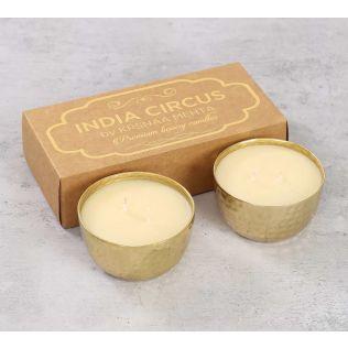 India Circus Gold Vanilla Bean Scented Bowl Candle