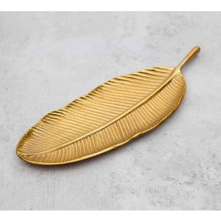 India Circus Golden Banana Leaf Small Platter