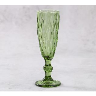 India Circus Green Orchid Champagne Glass