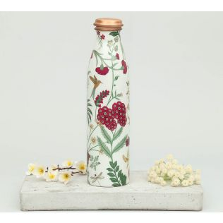 India Circus Grey Floral Galore Copper Bottle