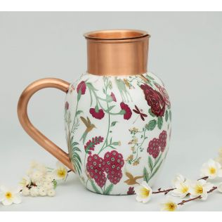 India Circus Grey Floral Galore Copper Jug