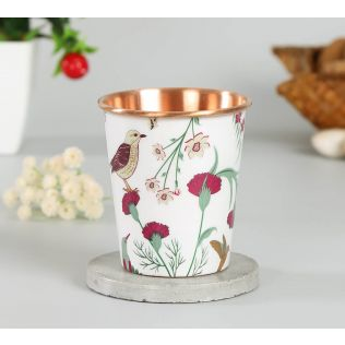India Circus Grey Floral Galore Small Copper Tumbler
