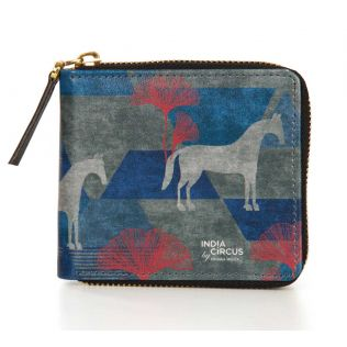 India Circus Grey Gallant Gypsy Zipper Wallet