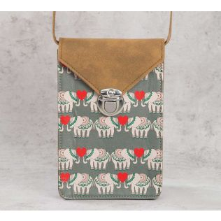 India Circus Heart Tusker Mobile Sling Bag
