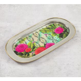 India Circus Herbs of Captivation Steel Serving Tray