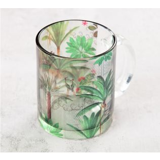 India Circus Heron's Garden Glass Mug