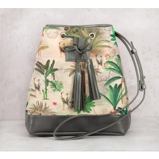 India Circus Heron's Garden Hobo Bag