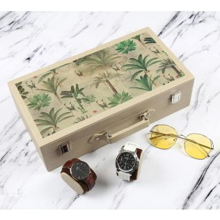 India Circus Heron's Garden Leather Watch and Eyewear Box
