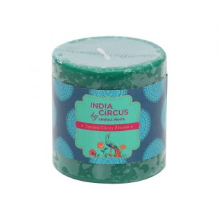 India Circus Japanese Cherry Blossom Drum Candle