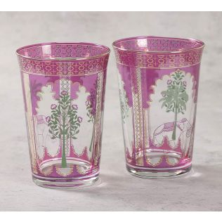India Circus Jungle Miniature Glass Tumbler Set of 2