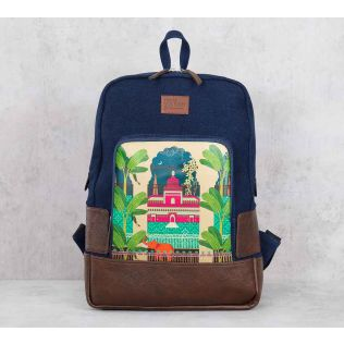 India Circus Lakeside Palace Denim Backpack