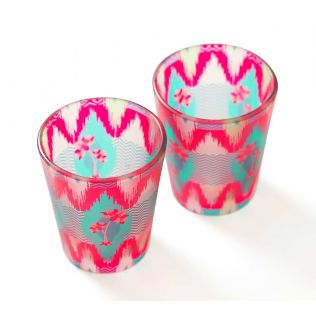 India Circus Lattice Chevron Mystery Shot Glasses Set of 2