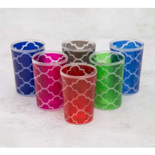 India Circus Lattice Decadence Moroccan Glasses Set of 6