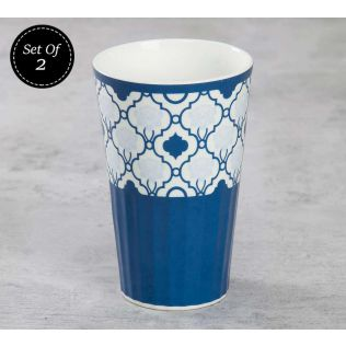 India Circus Lattice Fence Dining Extravaganza Tall Tumbler