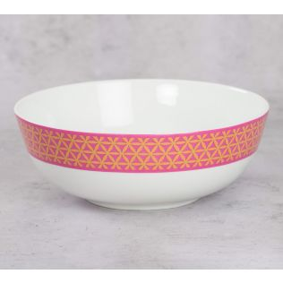 India Circus Lattice Lotus Serving Bowl