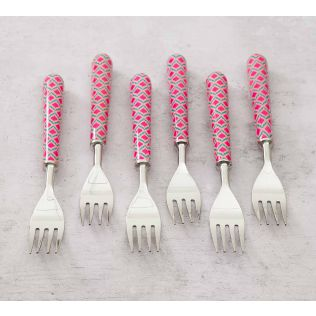 India Circus Lattice Practice Table Fork Set of 6