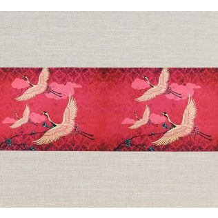 India Circus Legend of the Cranes Bed Runner and Table Runner
