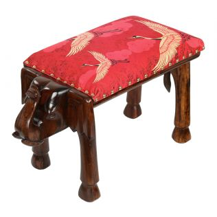 India Circus Legend of the Cranes Elephant Pouffe