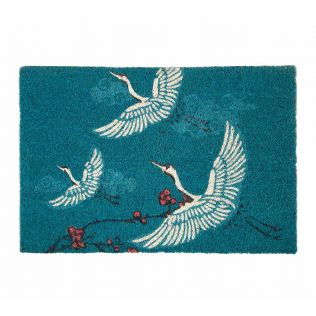 India Circus Legend of the Cranes Teal Doormat