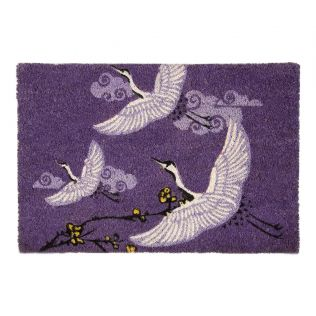 India Circus Legend of the Cranes Violet Doormat