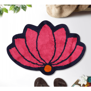 India Circus Lotus C'est La Vie Shape Bath Mat