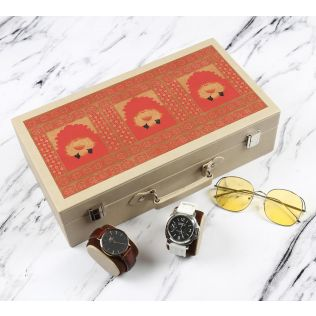 India Circus Lotus Darbar Leather Watch and Eyewear Box
