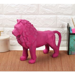 India Circus Magenta King of Beasts Figurine