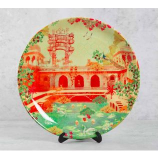India Circus Mammalian Picnic 10 inch Decorative and Snacks Platter