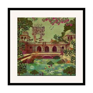India Circus Mammalian Picnic 16 x 16 and 24 x 24 Framed Wall Art