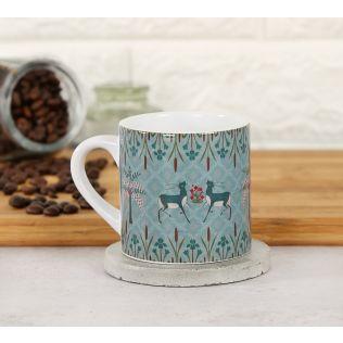 India Circus Mirroring Deer Garden Espresso Mug